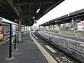 Platform of Omuta Station (Nishitetsu) 2.jpg