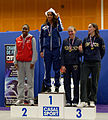Podium women foil N1 French Fencing Championship 2013.jpg