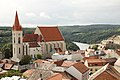Pohled z radniční věže na kostel sv. Mikuláše (4979982035).jpg