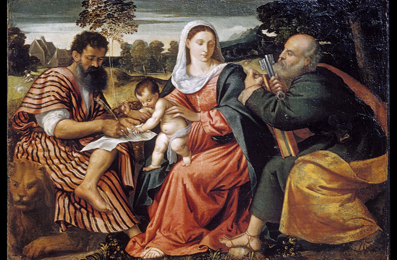 Madonna and Child with Saints Mark and Peter