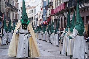 Capirote - Brotherhood with green capirotes