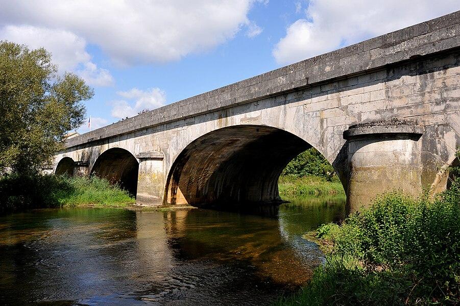 Bridge over the Meuse at Domrémy-la-Pucelle, Vosges, France