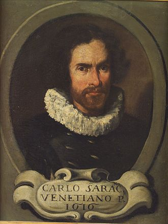 Carlo Saraceni - Anonymous, Portrait of Carlo Saraceni (1616)