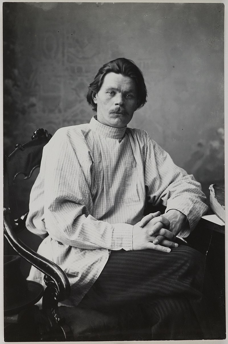 upload.wikimedia.org/wikipedia/commons/thumb/7/7d/Portrait_of_Maxim_Gorky_sitting_in_an_armchair_wearing_a_light_shirt._%2814728267252%29.jpg/800px-Portrait_of_Maxim_Gorky_sitting_in_an_armchair_wearing_a_light_shirt._%2814728267252%29.jpg