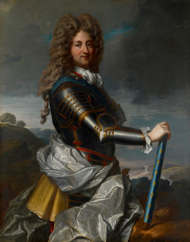 Portrait of Philippe d%27Orl%C3%A9ans, Duke of Orl%C3%A9ans in armour by Jean-Baptiste Santerre