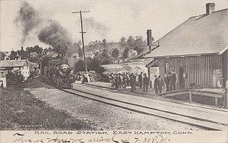 East Hampton, Connecticut - Railroad station, circa 1907