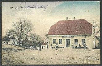 Matenja Vas - 1910 postcard of Matenja Vas