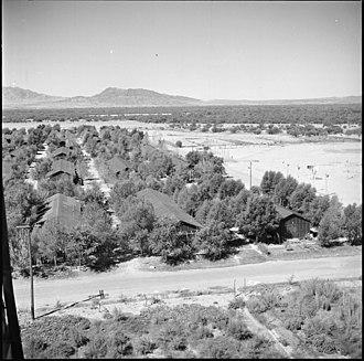 Poston War Relocation Center - Image: Poston, Arizona. Although Poston, Arizona is soon to be closed to Japanese Americans, it has alread . . . NARA 539893