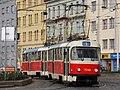 Praha, Libeň, křižovatka Sokolovská-Zenklova, Tatra T3SUCS č. 7246+7273.jpg