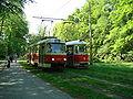 Praha, Tatra T3SUCS a Tatra T1.jpg