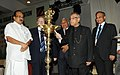 Pranab Mukherjee lighting the lamp to inaugurate the 41st Session of International Sugar Organisation (ISO), in New Delhi. The Minister of State (Independent Charge) for Consumer Affairs, Food and Public Distribution.jpg