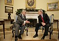 President George W. Bush meets with Vice President Tariq al-Hashemi of Iraq in the Oval Office.jpg