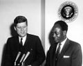 President John F. Kennedy Meets with the President of the Republic of Ghana, Osagyefo Dr. Kwame Nkrumah (JFKWHP-AR6409-A).jpg