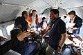 President Rodrigo Duterte and some of his Cabinet members engage in a discussion while on board Philippine Air Force plane going to Batanes.jpg