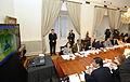 Presidenta Bachelet lideró reunión de emergencia por desastre en Valparaíso 02.JPG