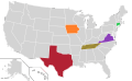 Presidential Candidate Home State Locator Map, 2000 (United States of America).png