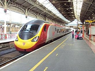 Preston railway station - Platform 3 looking north