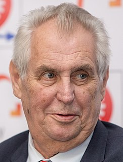 Miloš Zeman 3rd and current President of the Czech Republic