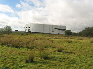Derby Arena - Image: Pride Park Velodrome from The Sanctuary Local Nature Reserve, 2013