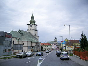 Prievidza - City centre of Prievidza
