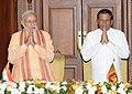 Prime Minister Narendra Modi and Sri Lankan President Maithripala Sirisena in Sri Lanka.jpg