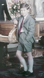 Il principe Carlo nel 1957