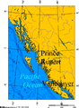 Prince Rupert and Vancouver on the BC Coast.png