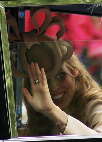 "Philip Treacy - Princess Beatrice's fascinator ""pretzel hat"" by Philip Treacy in May 2011"