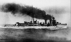 Miguel Buiza Fernández-Palacios - Light cruiser ''Libertad''. Miguel Buiza was commander of this Republican Navy ship when he became Captain General of the Spanish Republican Fleet.