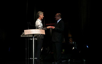 Prix Ars Electronical 2013 08 Claudia Schmied Hannes Leopoldseder.jpg
