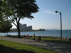 Burnham Park (Chicago) - Image: Promontory Point Northerly View