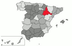 Mapa Provincia De Zaragoza.Saragoca Provincia Wikipedia A Enciclopedia Livre