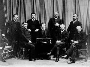 University of Belgrade - First professors of the University of Belgrade (1905).