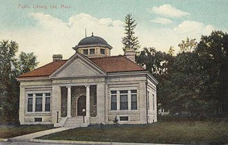 Lee, Massachusetts - Lee Library in 1909, the only remaining Carnegie library building in the Berkshires