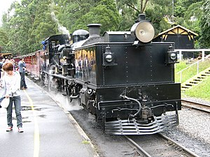Victorian Railways G class - G42 at Belgrave station on Puffing Billy Railway in 2007