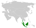 Pycnonotus plumosus distribution map.png