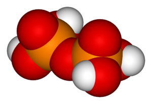 Phosphoric acids and phosphates - Image: Pyrophosphoric acid 3D vd W