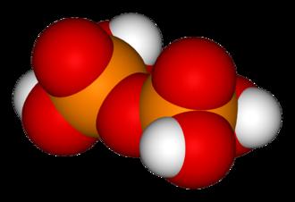 Phosphoric acids and phosphates - Image: Pyrophosphoric acid 3D vd W