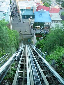 Funicular Of Old Quebec City, Canada Editorial Stock Photo - Image ...