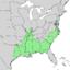 Quercus lyrata range map 1.png