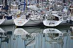Réflection de voiliers sur la mer (4).JPG