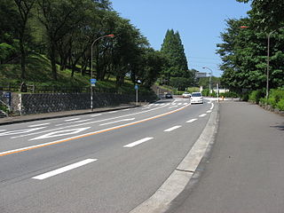 Japan National Route 413 road in Japan