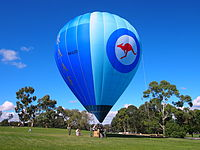 RAAF balloon VH-LVD at the 2013 Australian War Memorial open day