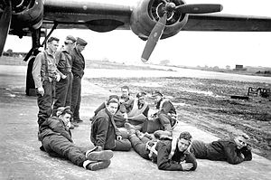 RAF Attlebridge - Image: RAF Attlebridge 466th Bombardment Group Crew 612