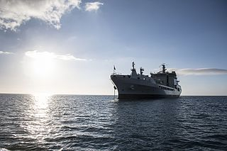 RFA <i>Tidespring</i> (A136) Tide-class replenishment tanker of the British Royal Fleet Auxiliary