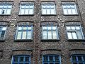 Radevormwald-Dahlerau, Textilstadt Wülfing, Verwaltungsgebäude, Fassadenausschnitt 2.jpg