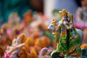 Golu - Radha Krishna as Kolu dolls.