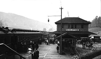Revelstoke, British Columbia - Railway station, 1915