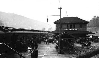 Revelstoke, British Columbia - Railway station, 1915