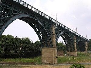 Willington Dene Viaduct - Image: Railway viaduct, Willington geograph.org.uk 246914